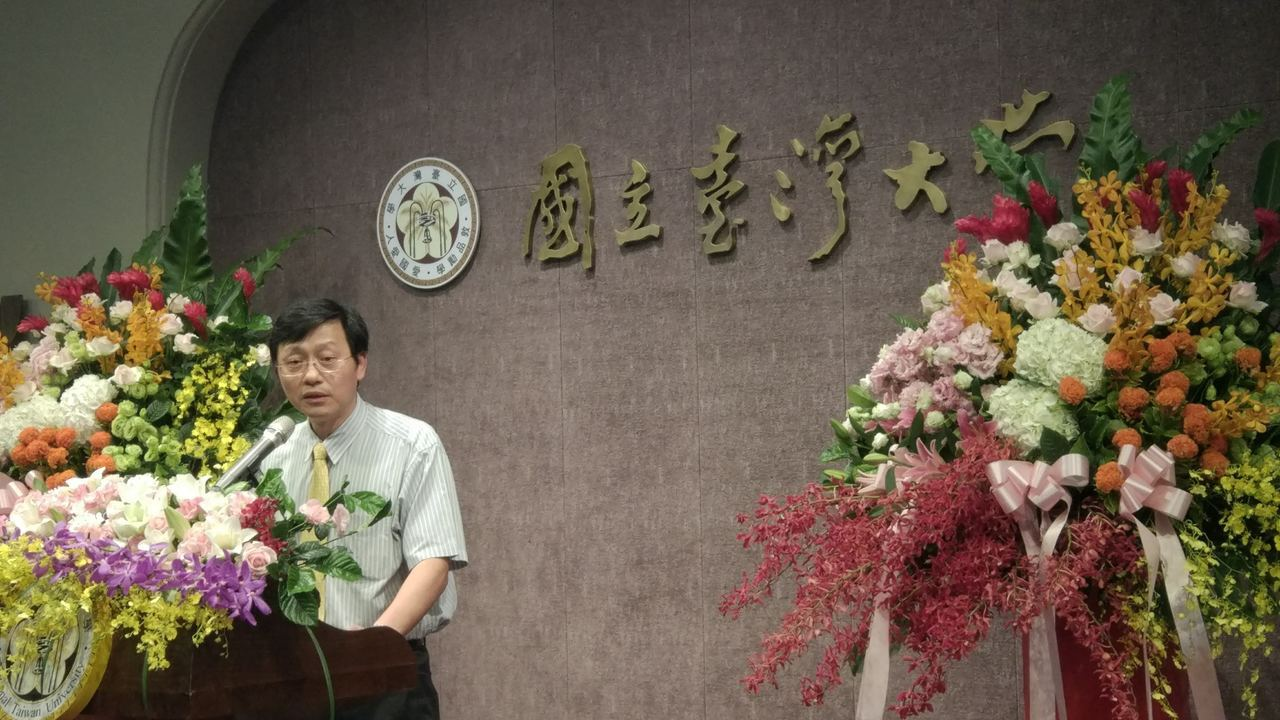 台灣大學代理校長郭大維今天出席各類獎學金頒獎典禮。記者林良齊/攝影