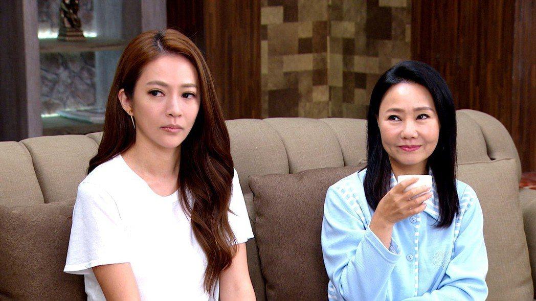 呂雪鳳(右)在戲中力挺媳婦高宇蓁。圖/三立提供