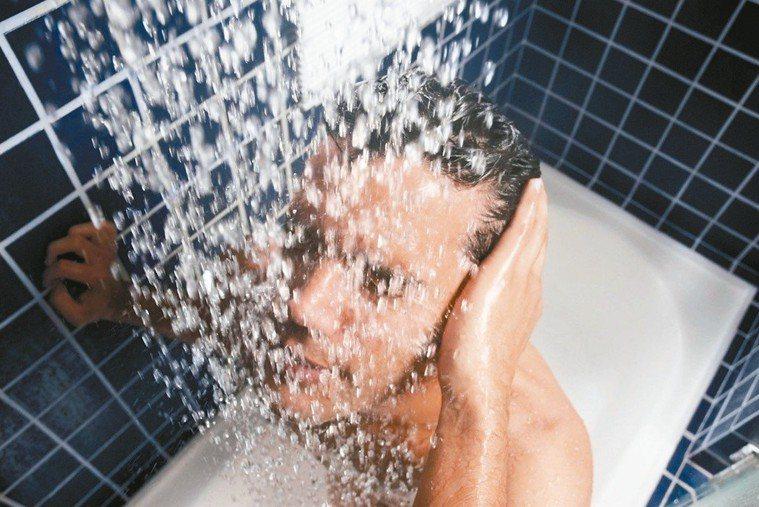 沖冷水澡、喝冰水引發中風?醫師說太誇大了。圖/ingimage