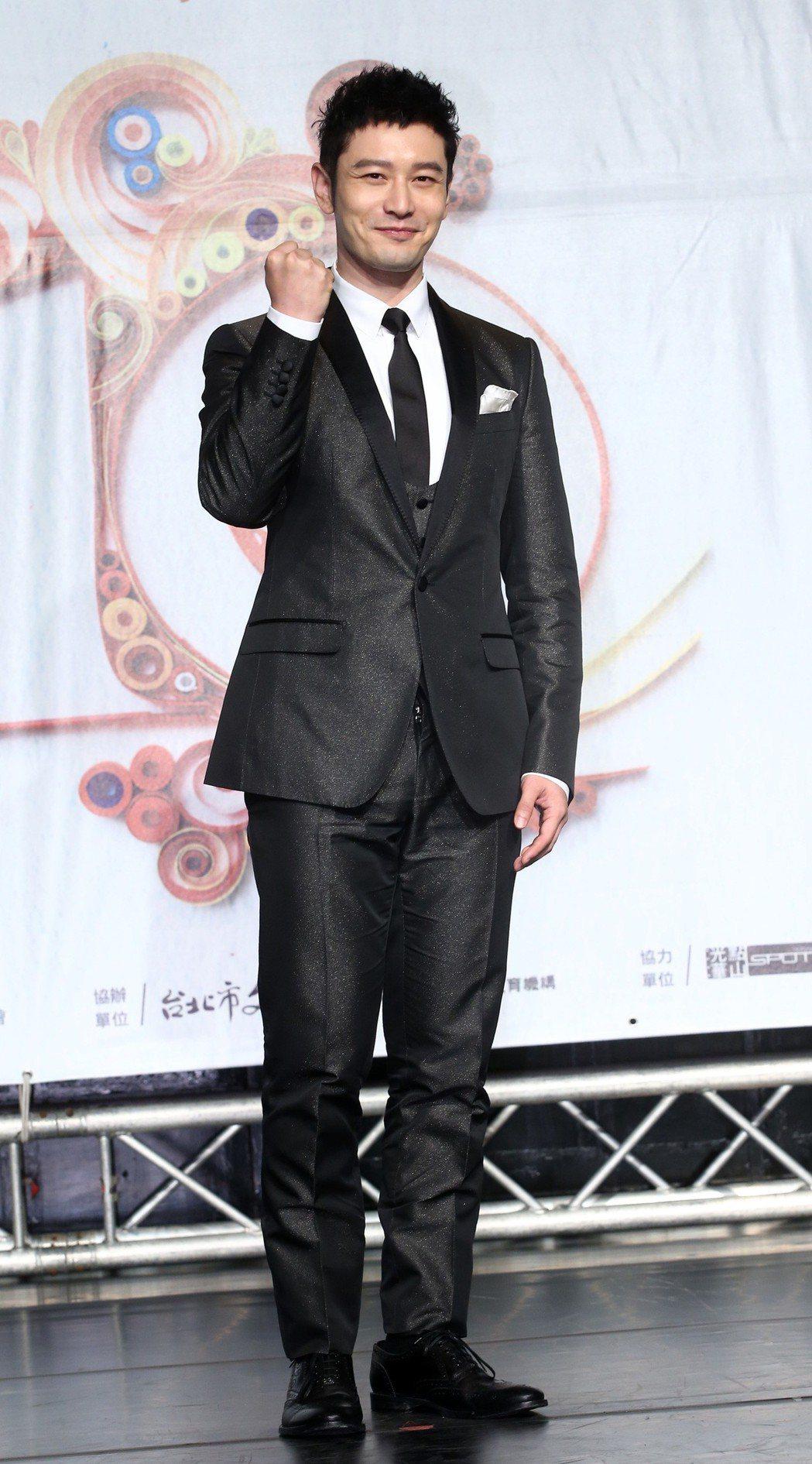 黃曉明出席「第十屆兩岸電影展」開幕。記者林澔一/攝影