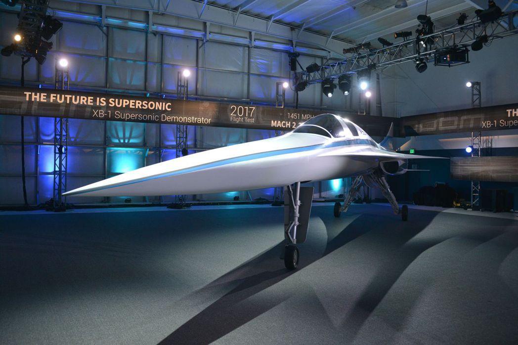 超音速雙人座概念機XB-1。 圖/取自網路