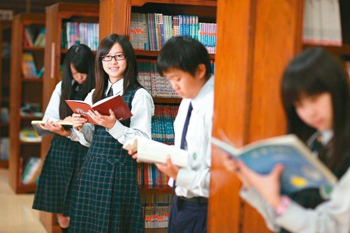 校方致力培養學生閱讀風氣。圖/維多利亞雙語中小學提供