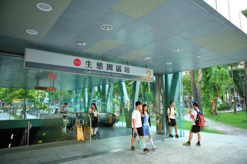 「都市璞華」距離捷運「生態園區站」走路5分鐘。 圖片提供/都市建設