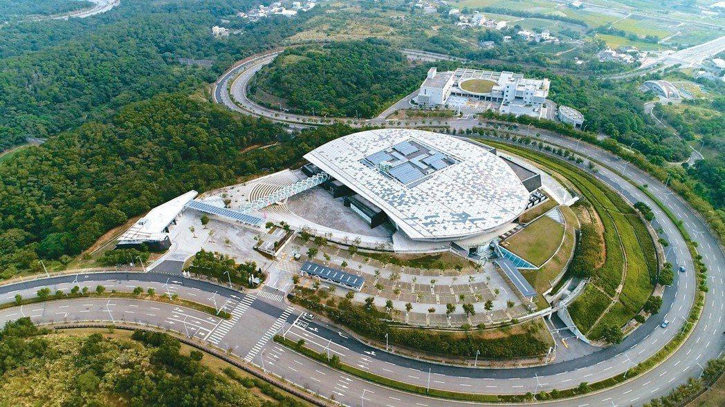 臺灣客家文化館空拍,館區規模雄偉。圖/客家文化發展中心提供