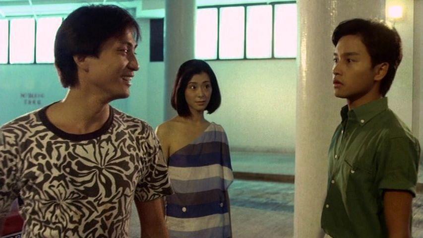 湯鎮業(左起)、夏文汐、張國榮在「烈火青春」有不少對手戲。圖/摘自rarefil