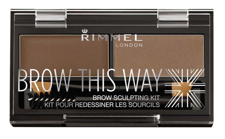 Rimmel倫敦芮魅就是有型立體眉彩盤,售價290元,共2色。圖/RIMMEL提...
