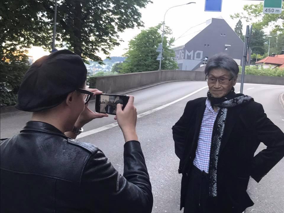 傅达仁已抵达瑞士,準备执行安乐死绿灯资格。图/摘自傅达仁脸书