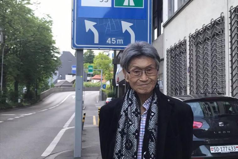 傅達仁已抵達瑞士,準備執行安樂死綠燈資格。圖/摘自傅達仁臉書