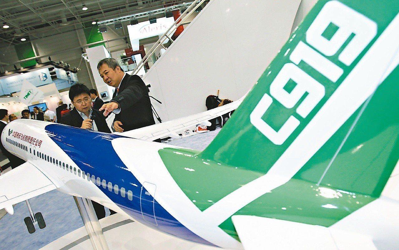 中國商飛製造的大陸國產飛機C919,2016年投入市場,這是大陸提高自主創新能力...
