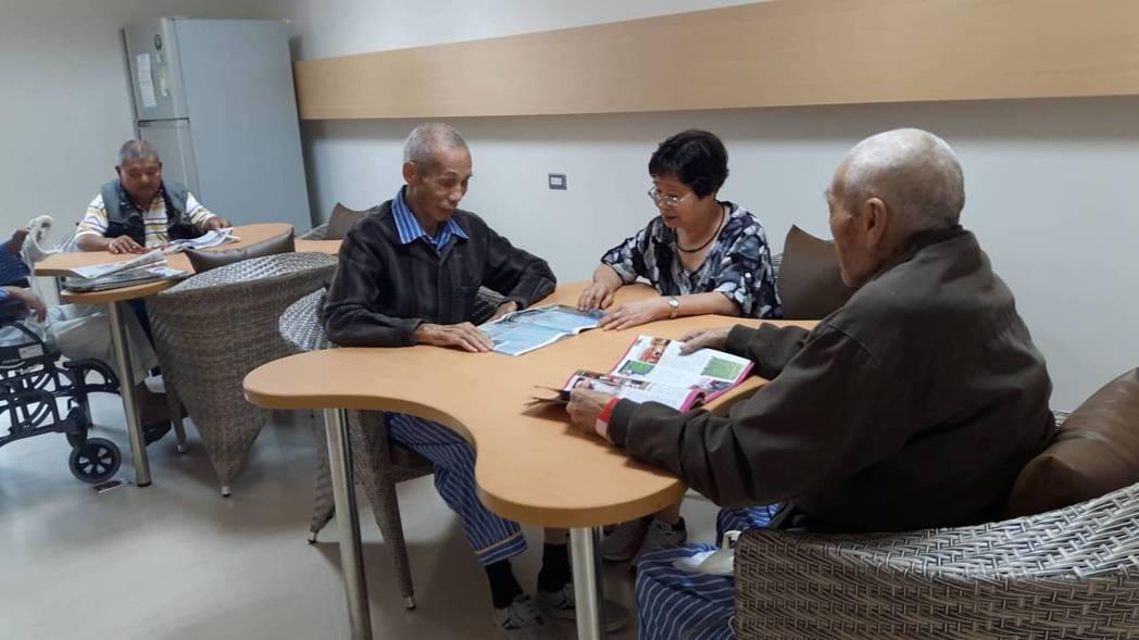 桃園榮民總醫院「長青園」照護中心,六月底開放收案。 記者許政榆/攝影