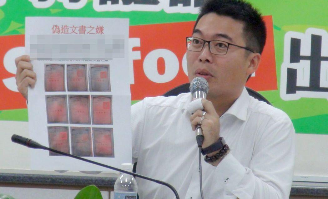 高雄市議員邱俊憲4年前因高雄市長陳菊鼓勵參政,順利當選。 圖/聯合報系資料照片