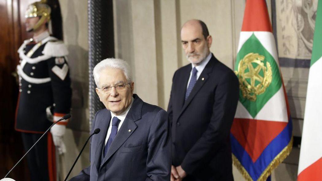 義大利總統馬塔雷拉在政局危急時期成了主導的關鍵力量。  路透