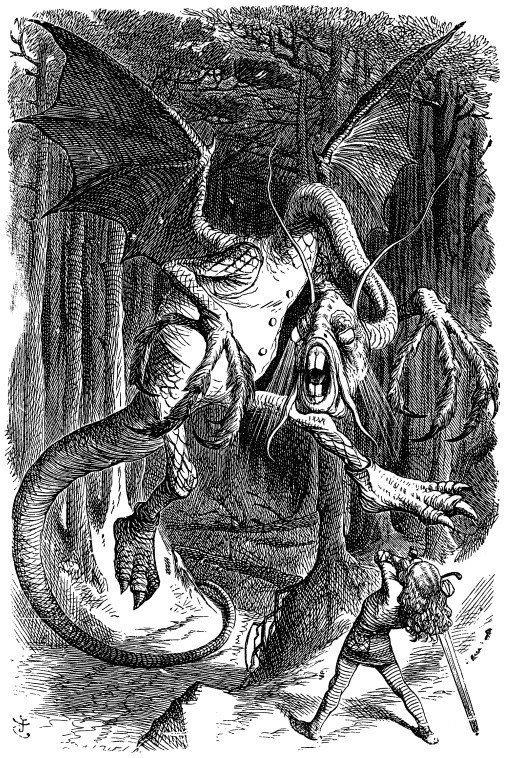 ※約翰·坦尼爾(John Tenniel)所繪的傑伯沃基(Jabberwock)