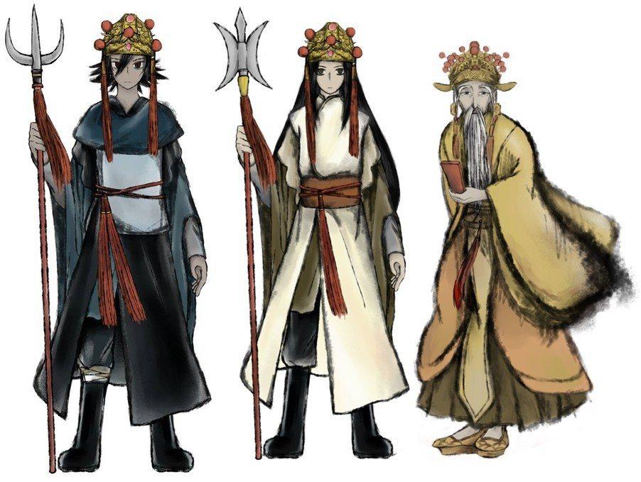 從左:夜遊神/日遊神/城隍爺。