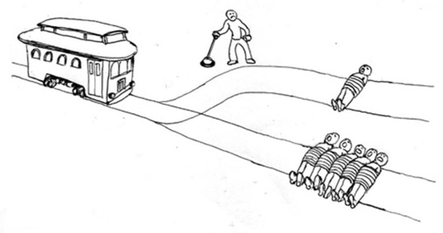 自駕系統得替人類在兩個「邪惡」之間抉擇,面對「電車難題」的道德困境。