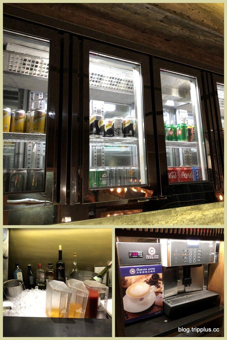主要以軟性飲料與果汁/咖啡為主,酒類方面,則有台灣啤酒跟一些紅白酒 圖文來自於:...