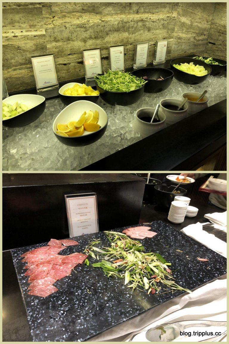 較為西式的餐點,有生菜沙拉跟冷切 圖文來自於:TripPlus