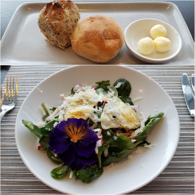 晚餐的前菜麵包(上圖)與沙拉(下圖) 圖文來自於:TripPlus