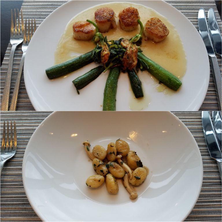 晚餐我又點了一次干貝(上圖),另外服務人員也特地建議我嘗試一下義大利麵 (Pot...