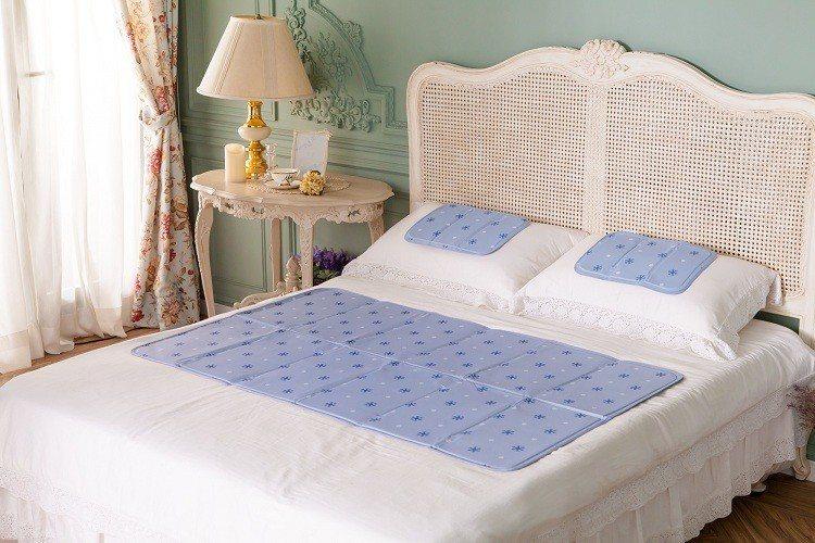日本SANKi 固態凝膠冰涼床墊-薰衣草風1床2枕,即日起至6月30日僅需1,6...