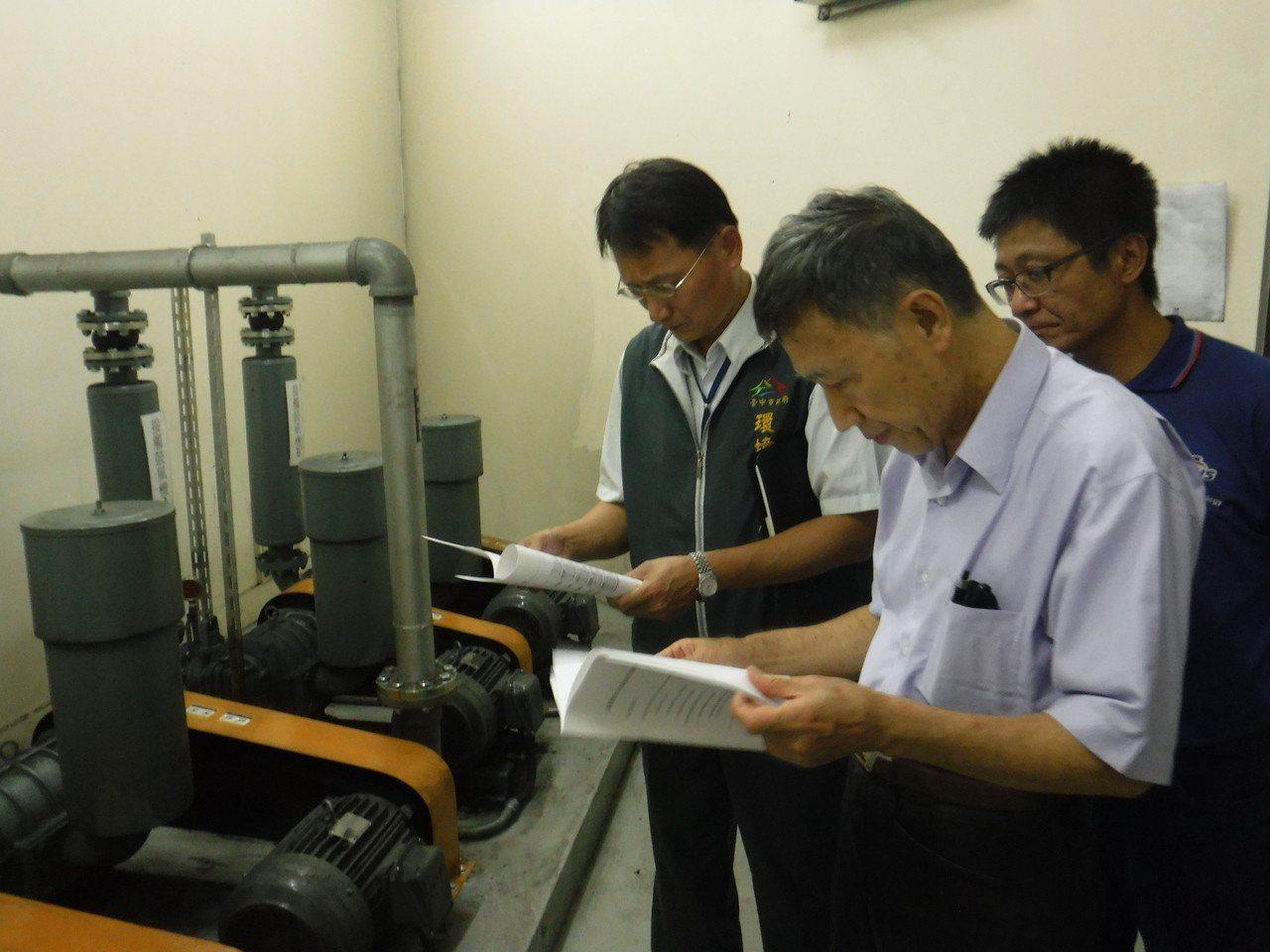 汙水下水道接管速度慢,台中市環保局推社區汙水設施健檢,加強改善排放水水質。圖/台...