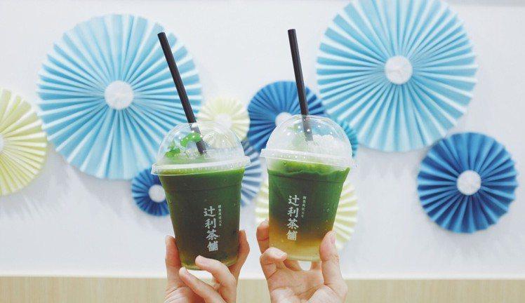 抹茶抹希多系列,翠綠漸層感成為IG美拍飲品。圖/記者沈佩臻攝影