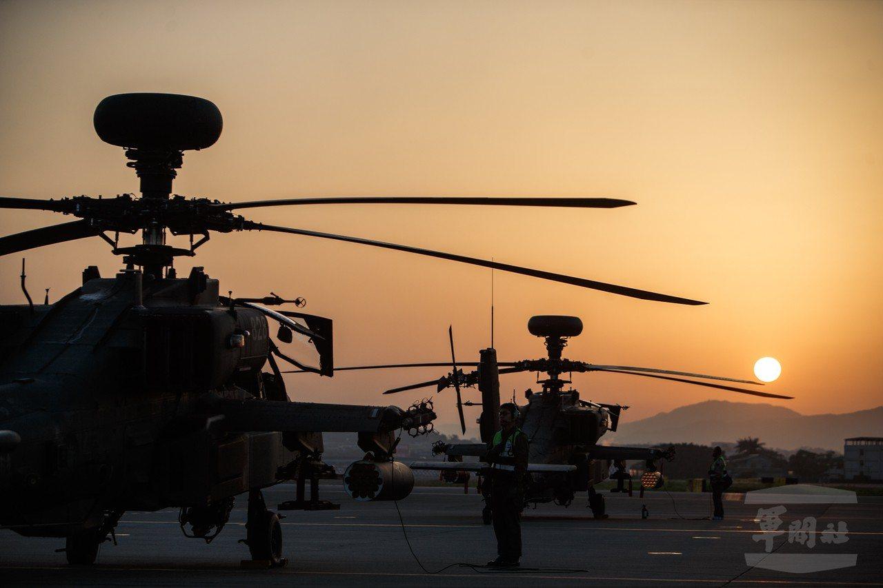 陸軍的AH-64E阿帕契攻擊直升機。圖/軍聞社資料照
