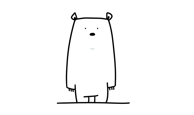 最初的熊熊。 擷自《熊熊星球》開發日誌。