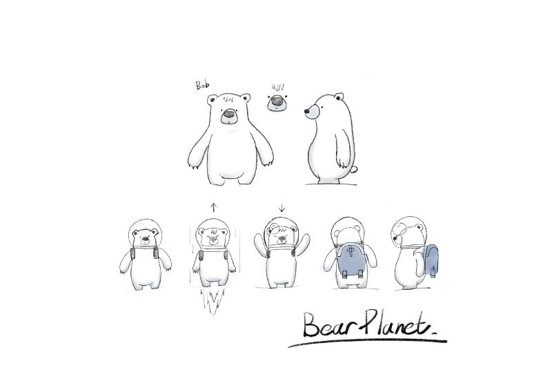 熊熊的設定稿,在知道熊熊是渴望被認同後,我玩起《熊熊星球》都特別的認真。 擷自《...