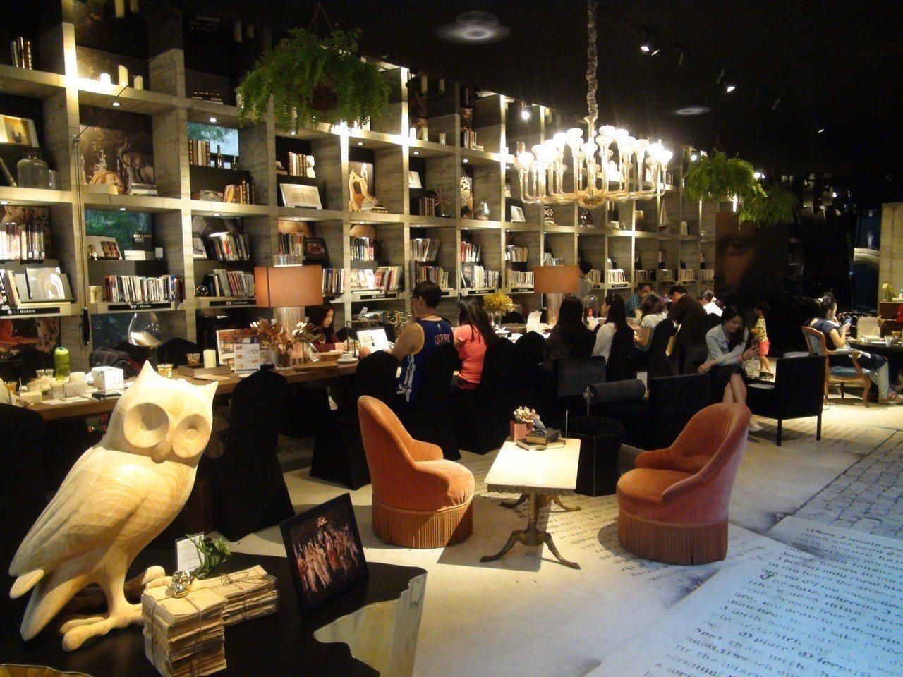 台中市「樂樂書屋」,進書屋平日只要150元、假日200元,就能不限時暢讀、暢飲咖...