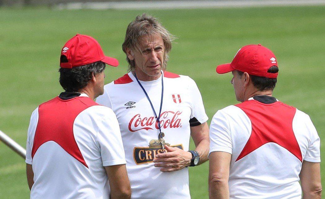 秘魯隊總教練加雷卡(Ricardo Gareca)。路透