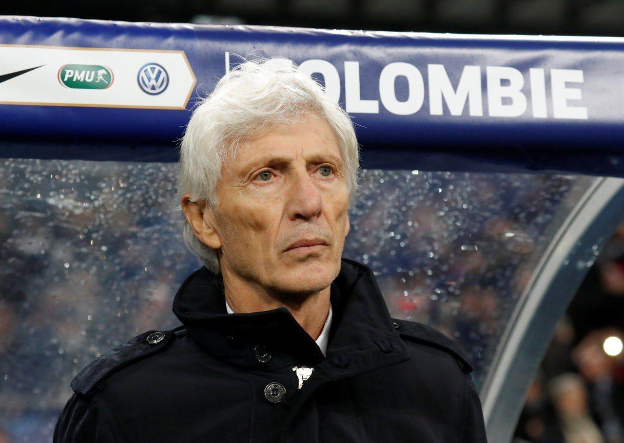 哥倫比亞隊總教練貝克曼(Jose Pekerman)。路透
