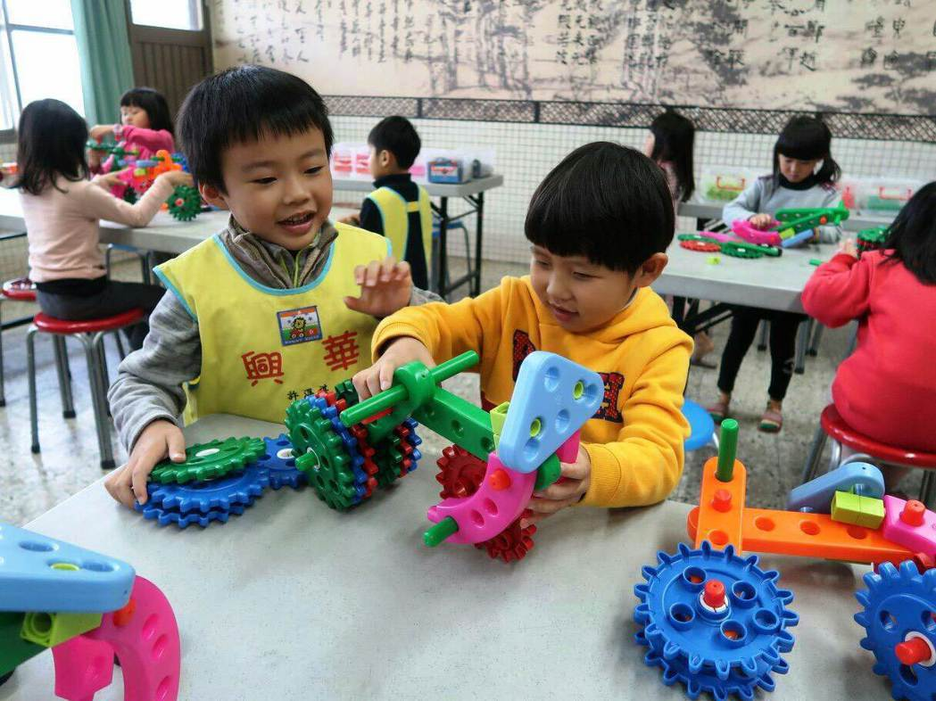 興華國小附幼因課程安排活潑,獲得家長肯定,近年招生人數增加。圖/興華國小提供