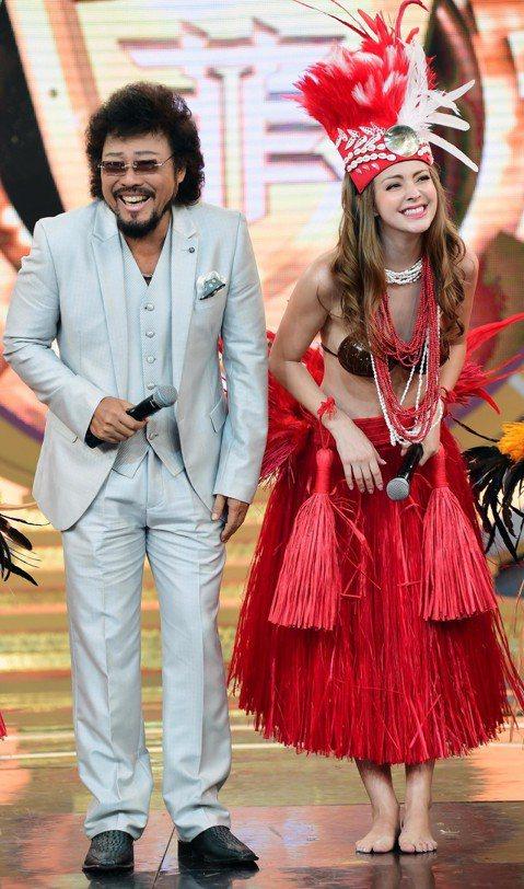 安妮、秀琴到「綜藝菲常讚」大秀舞技,金髮美女安妮穿上夏威夷草裙舞衣,胸前僅用椰子殼罩住,性感非凡,大尺度穿著外加上誘人的舞蹈演出,讓大夥都叫好,張菲表示:「椰子殼讓人看了覺得很口渴,今天看妳這樣子,...