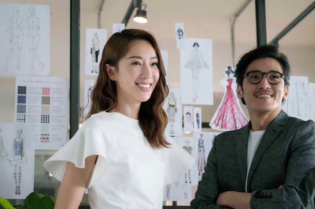 隋棠拍攝牙膏廣告。圖/高露潔提供