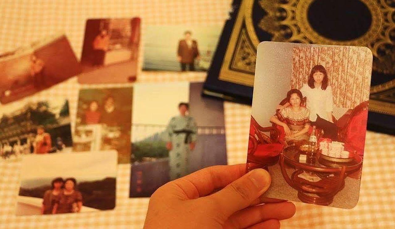 「溫馨五月天~最美的依靠」攝影評選活動,「給天上媽媽的一封信」照片最觸動人心。圖...