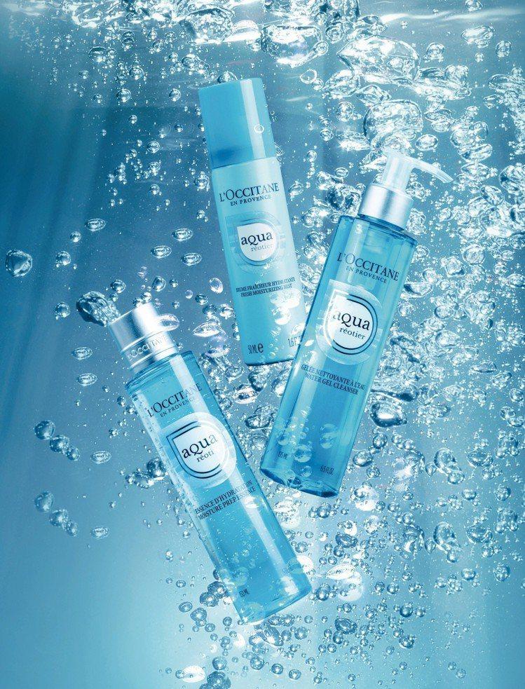 歐舒丹清泉水合系列運用普羅旺斯的泉水帶來涼感保濕。圖/歐舒丹提供