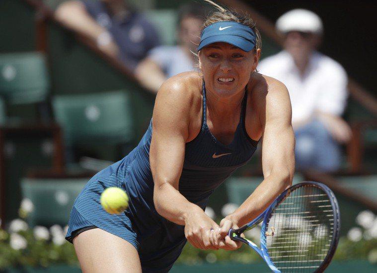 前網球女將莎拉波娃(Maria Sharapova)。 美聯社