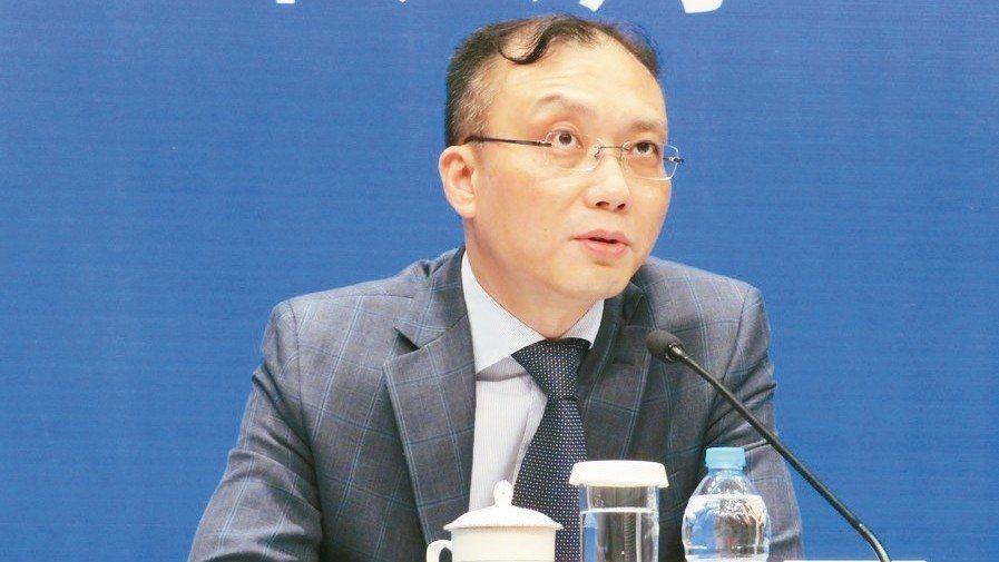 上海市台辦副主任、新聞發言人王立新。 特派記者林則宏/攝影