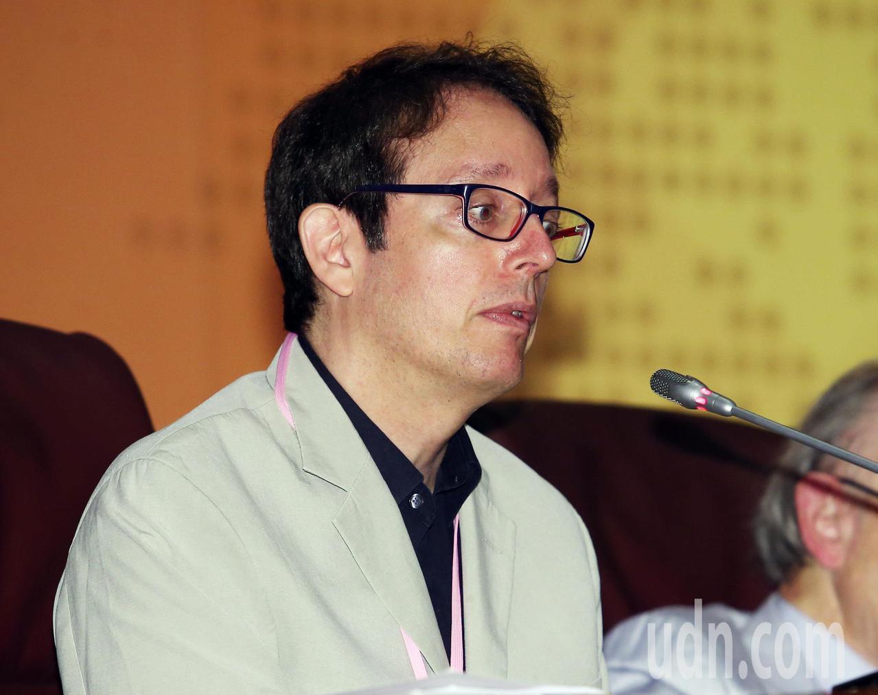 北大政治與公共學系主任貝淡寧擔任評論人。記者杜建重/攝影