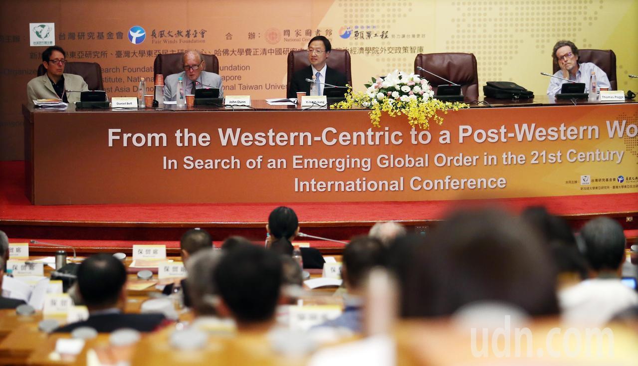 由前行政院長江宜樺成立的長風文教基金會與台灣研究基金會所共同舉辦的「21世紀新興...