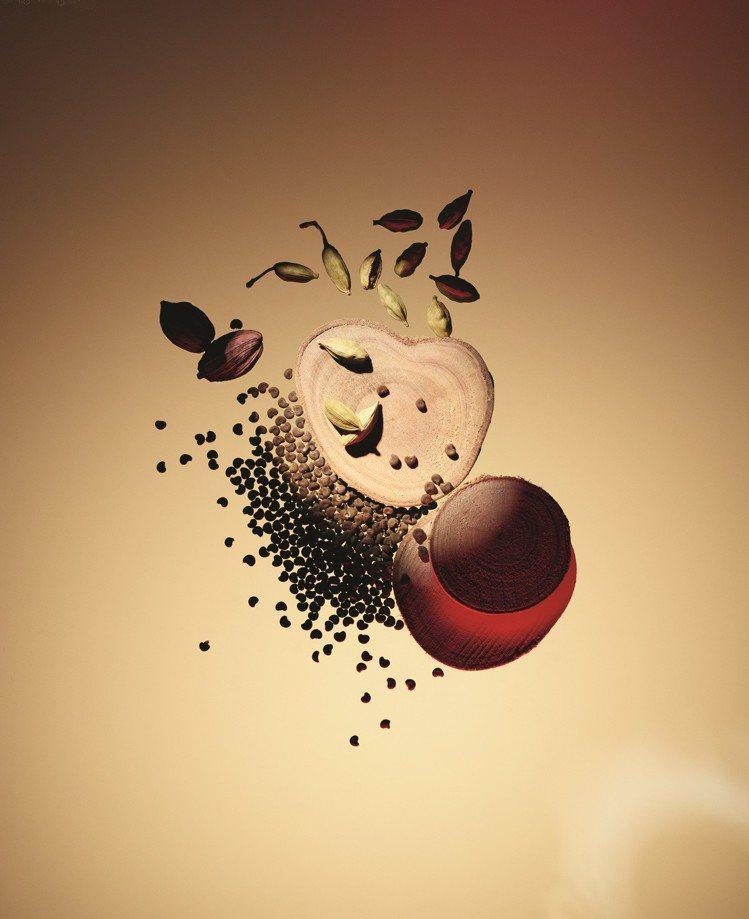 「AU HASARD偶然」將特殊檀香木嫁接散發著梨露酒與植物麝香的黃葵種籽,顛覆...