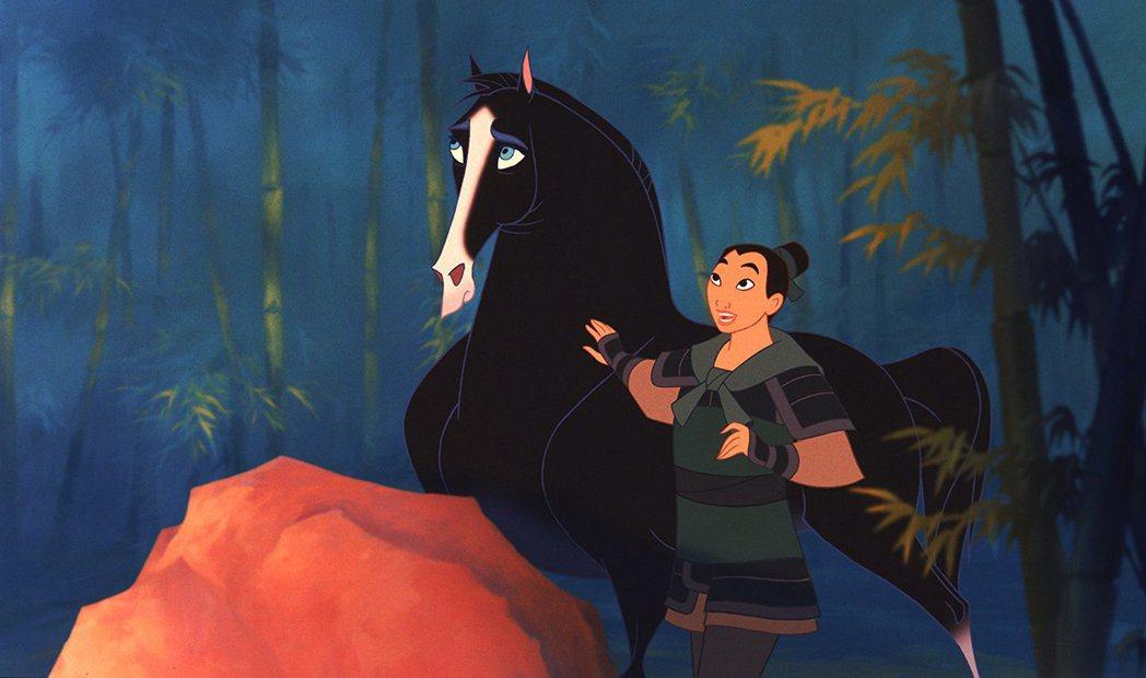 「花木蘭」是最早被列入「迪士尼公主」的動畫主角之一。圖/摘自imdb