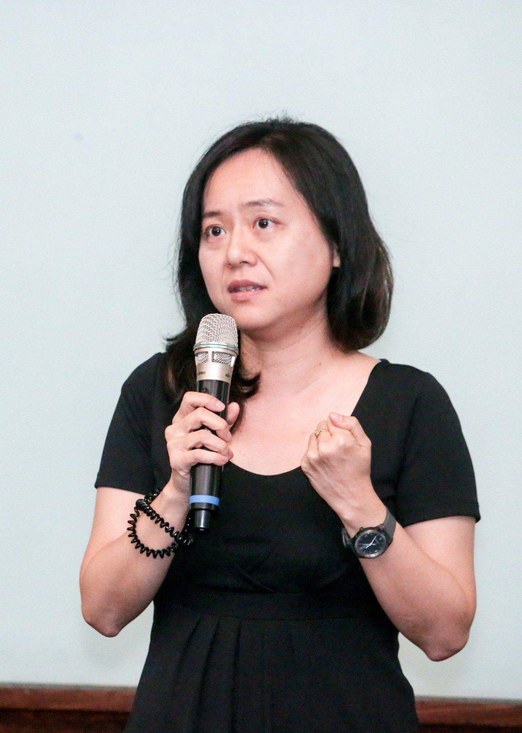 樂施會臺灣計畫經理張心蕙今天發表演講。記者鄭清元/攝影