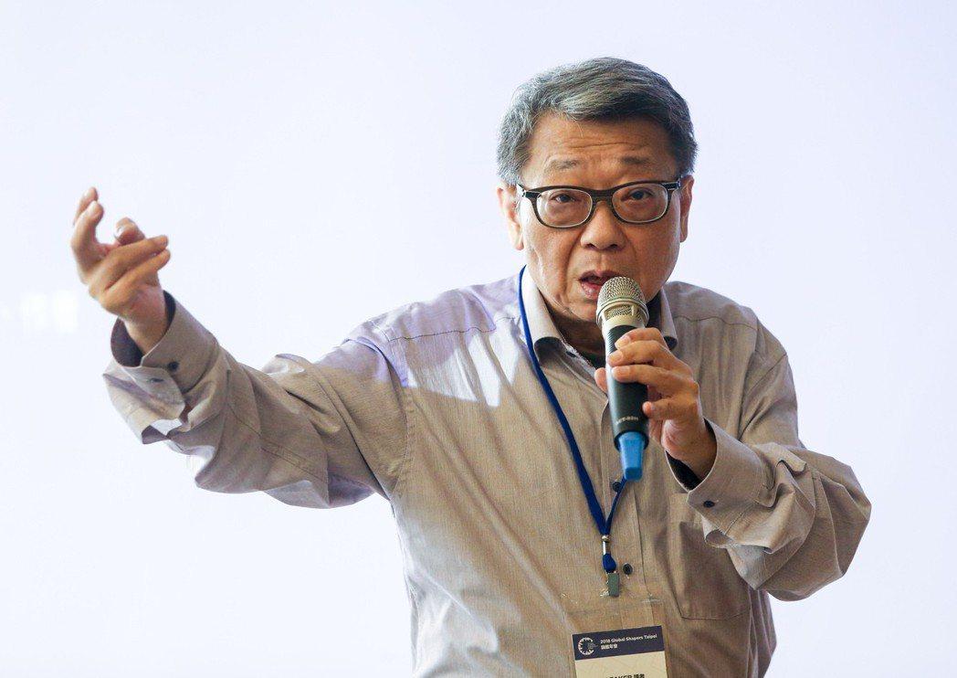 時事評論家范疇今天發表專體演講。記者鄭清元/攝影