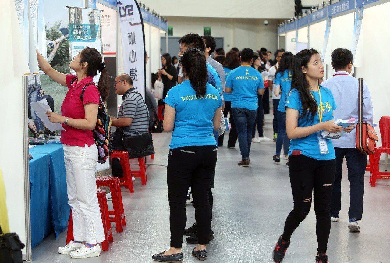 上海市台協第二屆徵才博覽會昨天在台北和平籃球館舉辦。記者曾吉松/攝影