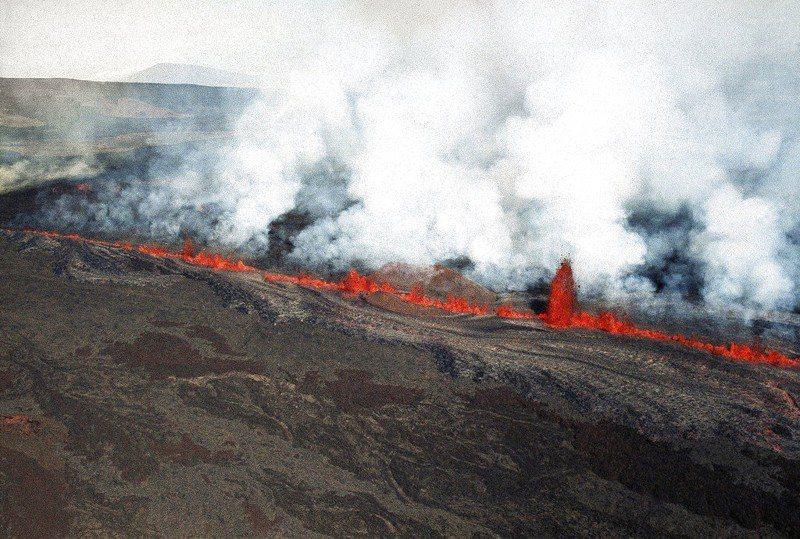 夏威夷幾勞亞火山。 美聯社