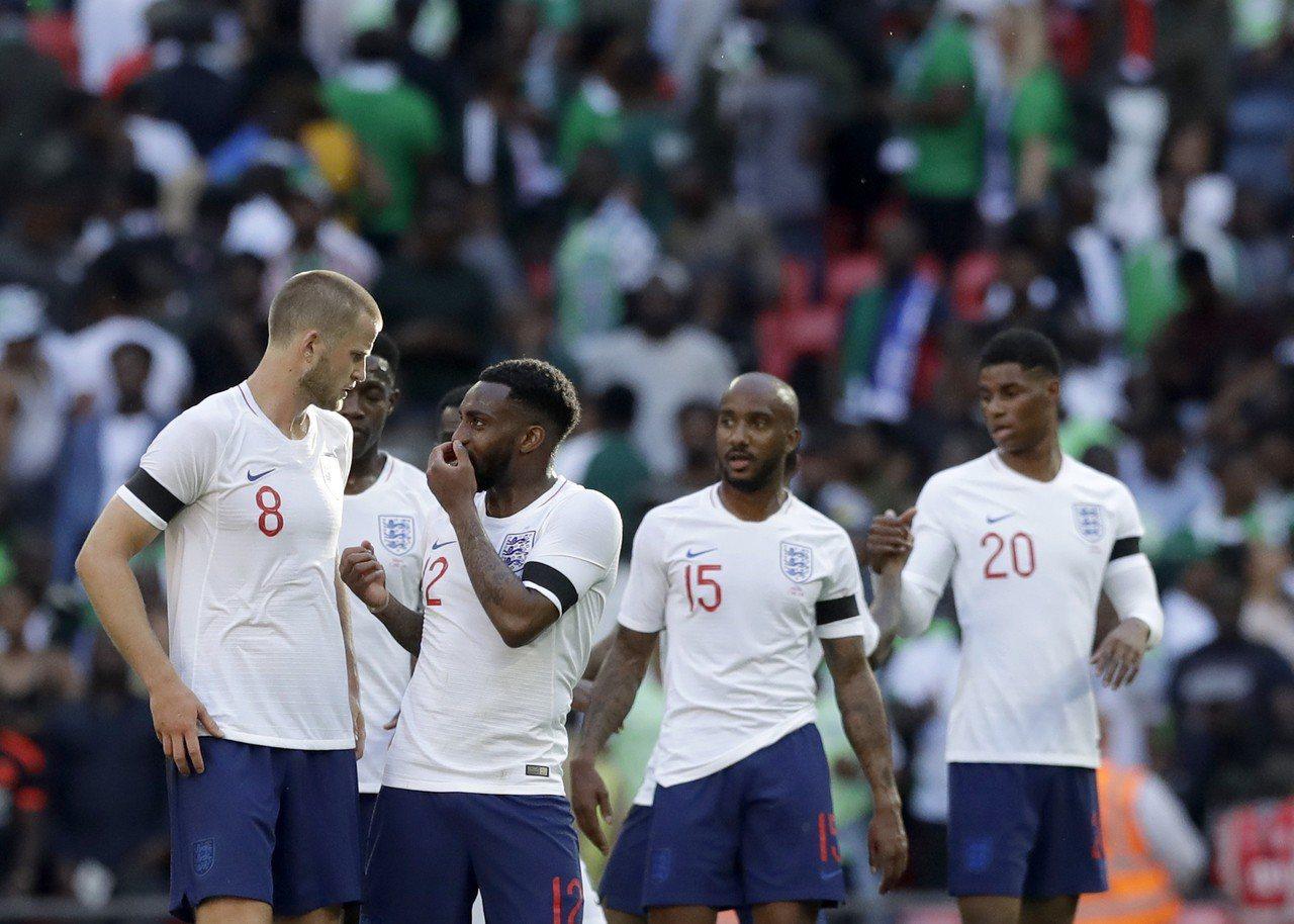 英格蘭在熱身賽勝奈及利亞。 美聯社