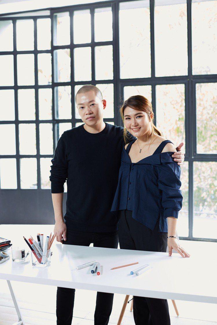 Jason Wu吳季剛與產品總監Nicole。圖/ZALORA提供