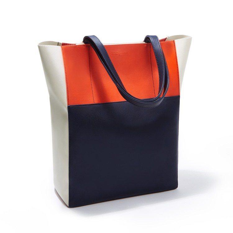 Edie mini托特包,豔陽橘。圖/ZALORA提供